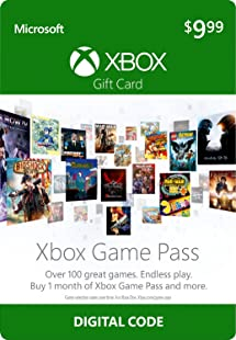 Amazon Com 10 Xbox Game Pass Gift Card Xbox One Digital Code