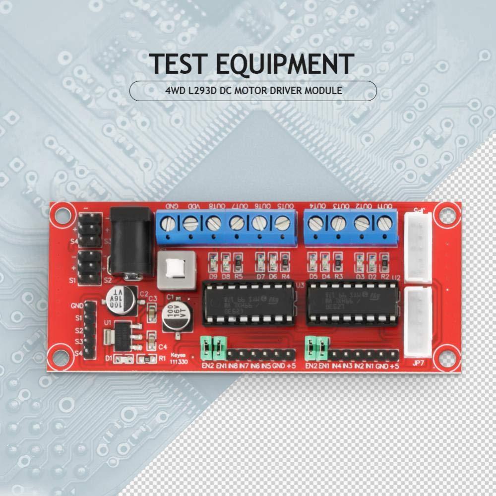 Akozon 4wd L293d Dual H Bridge Dc Motor Driver Module Mcu Control Speed And Direction For Smart Car Robot Electronics