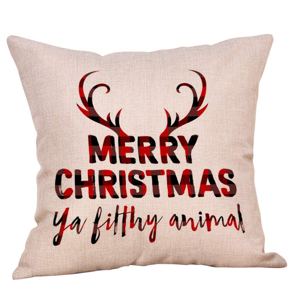 Rambling Christmas Theme Throw Pillow Covers Square Decorative Soft Pillow Cases Christmas Series Cushion Cotton Pillowcovers 18