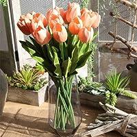 Mazzi di tulipani artificiali, fiori finti in seta, ideali come bouquet da sposa, per la casa, il giardino, le feste, decorazione floreale