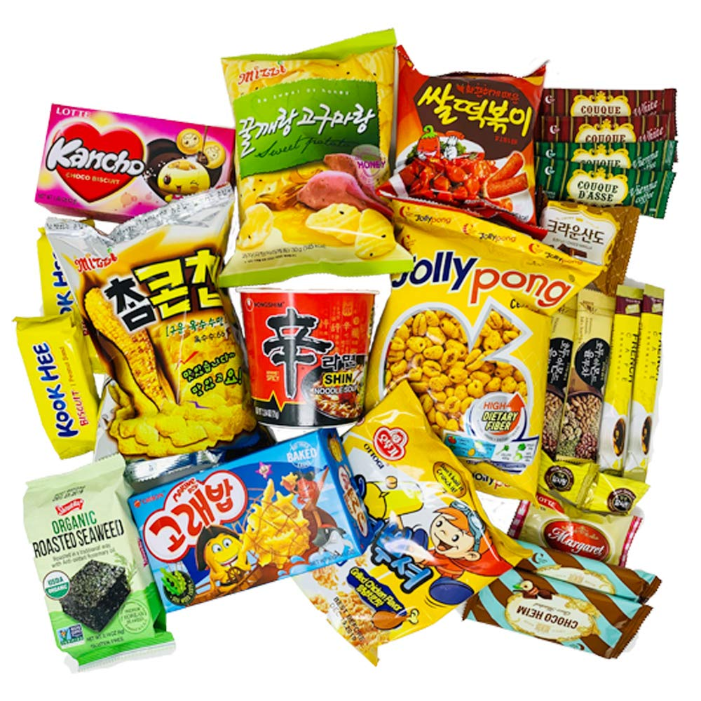 DANKONG Korean Snack Box - 25 Count of Variety Assorted Individual Wrapped Essentials Sample Packs of Candy, Snacks, Chips, Ramen, Cookies, Treats for Men, Women, Kids, Children, College Students by DANKONG (Image #2)