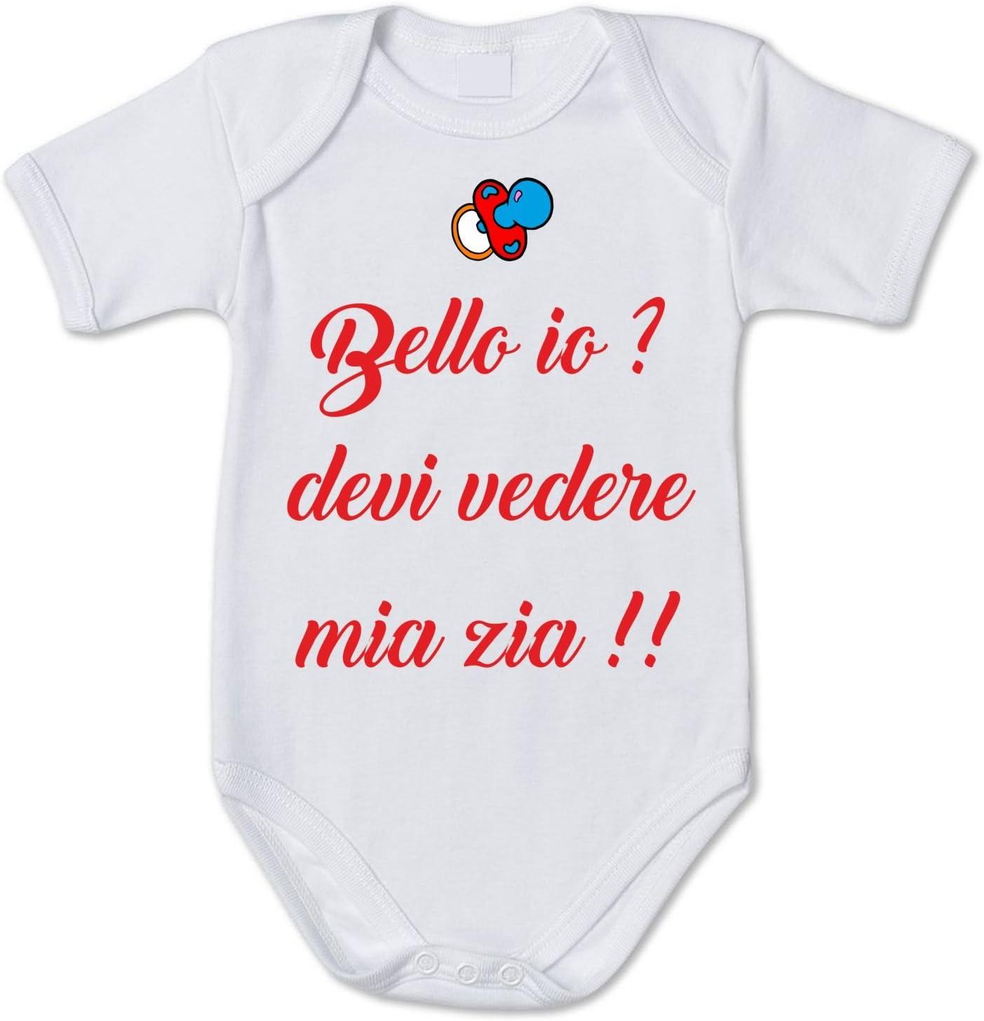 fashwork Body da Neonato Bello io Pagliaccetto in Cotone Humor Devi Vedere mia Zia!!