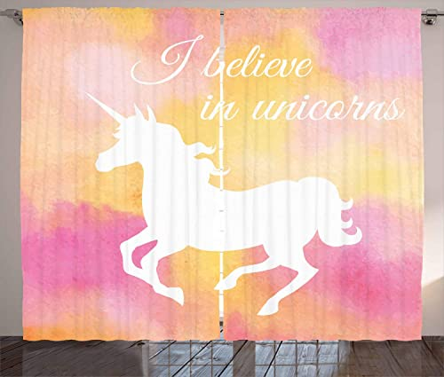 Ambesonne Unicorn Curtain