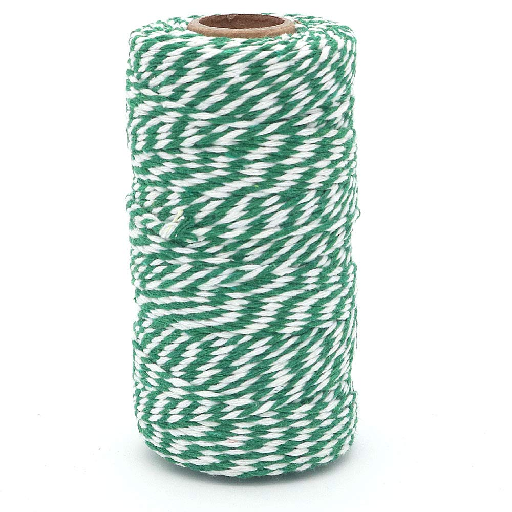 White DollaTek 4Pcs 100M Twine String Durable Cotton Bakers Twine Heavy Duty Cotton Crafts Twine 2mm for Packing Twine String Decorations Blue
