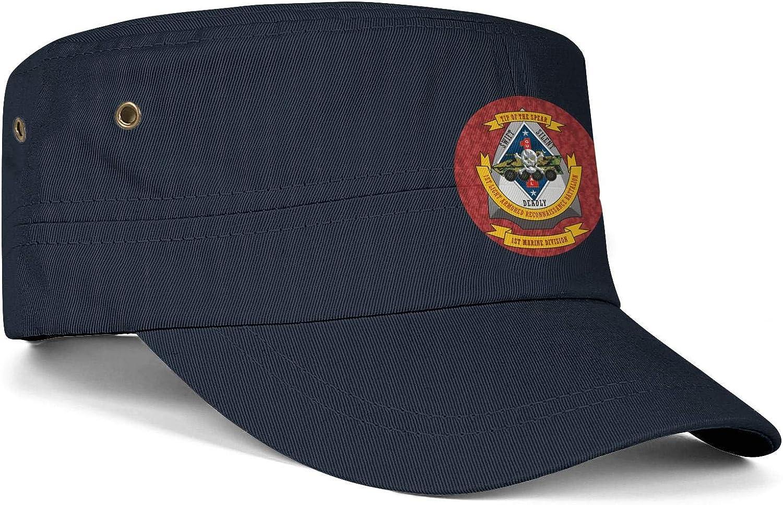 1st Light Armored Reconnaissance Battalion Man Vintage Washed Cotton Patrol Hat Retro Flat Top Snapback Hat