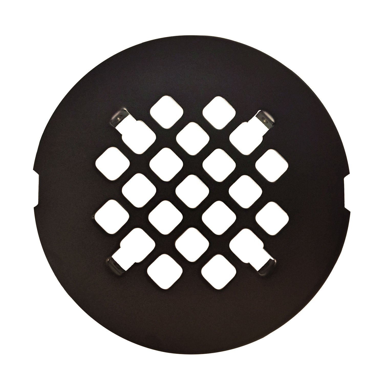 Oil Rubbed Bronze Round SNAP-IN Shower Drain Grate 4-1/4'' Replacement Cover / Shower Strainer by iyax