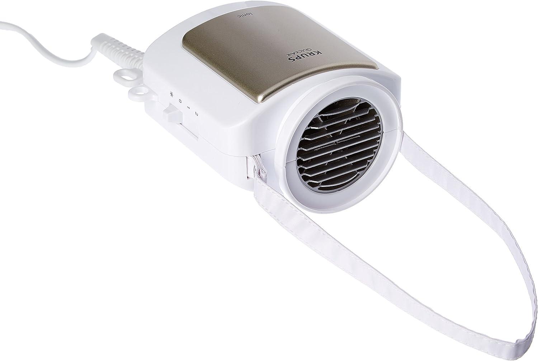Krups CF 6000 secador Blanco 600 W - Secador de pelo (Blanco, Termoplástico, Con agujero en la empuñadura para colgar, 600 W, 230 V, 50 Hz)