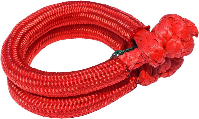 UHMWPE Shackle for Off Road 2PCS 9/mm Rope Shackle schwarz 80/mm Soft Shackles