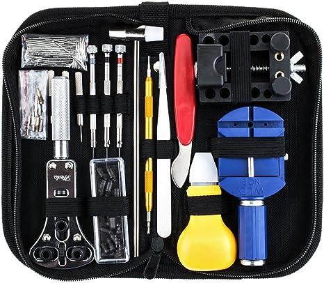 Zacro 147 PCS Kits de Reparación de Reloj Profesional de Herramientas Barra de Resorte: Amazon.es: Bricolaje y herramientas