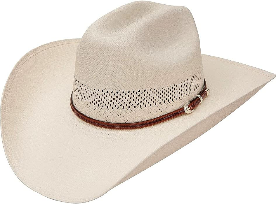 9a952483eac85 Stetson Men s Rincon Vented Straw Cowboy Hat Natural 7 at Amazon ...