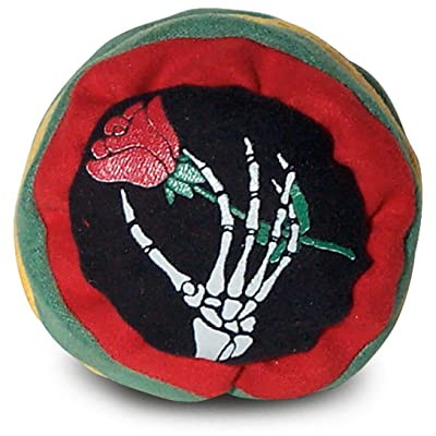 Grateful Skeleton Rose Dead Rasta Footbag Hacky Sack: Toys & Games