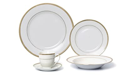 EURO Porcelain 20-Piece Dinner Set 24K Gold-plated Luxury Bone China Tableware  sc 1 st  Amazon.com : luxury porcelain dinnerware - Pezcame.Com