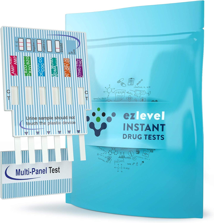 EZ LEVEL 6 Panel Urine Multi Drug Test Kit (10 Count)