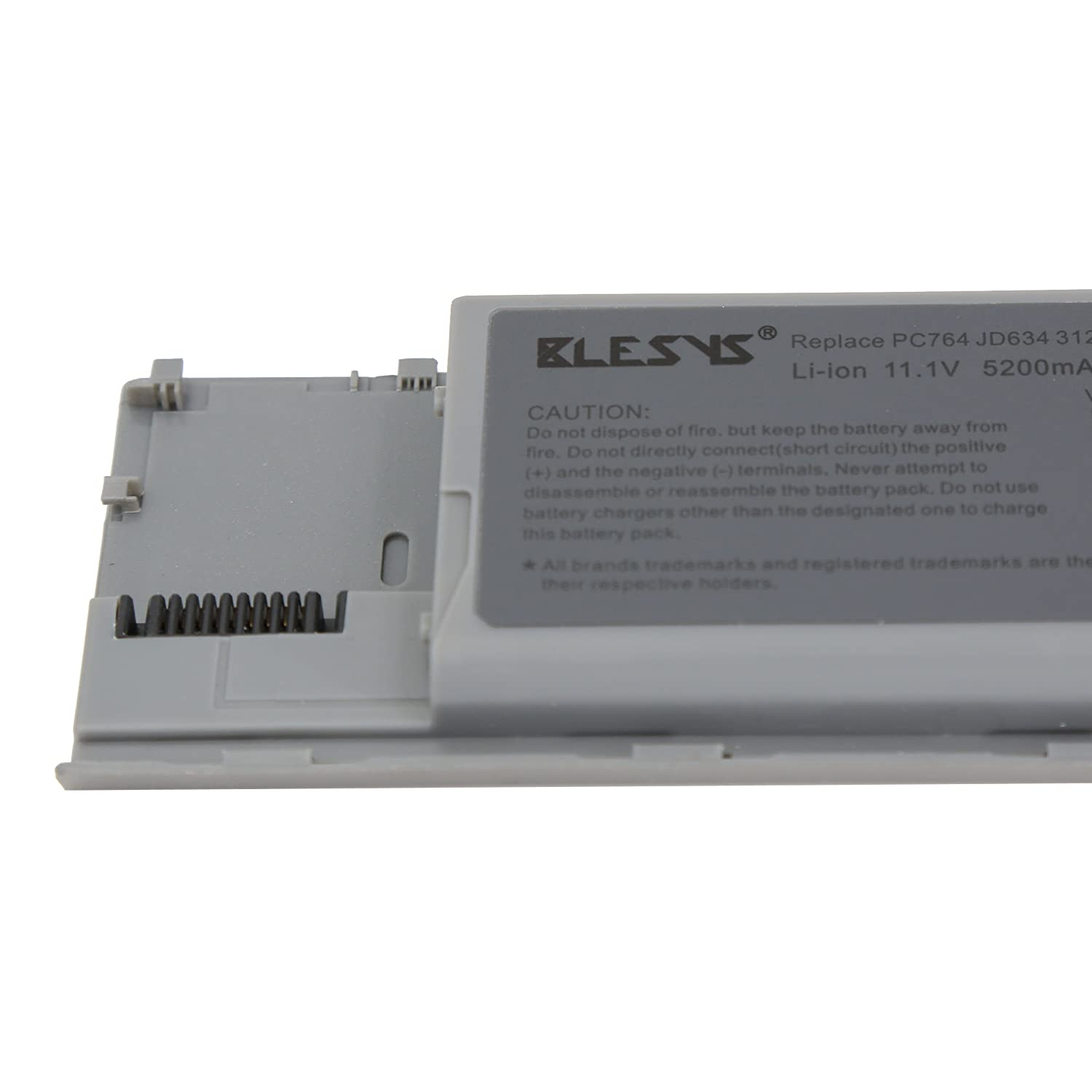 BLESYS - 11.1V 4400mAh Compatible con DELL Latitude D620 D630 Precision M2300 Serie PC764 TC030 TD175 JD634 RC126 JD606 0GD775 451-10298 NT379 JD610 ...
