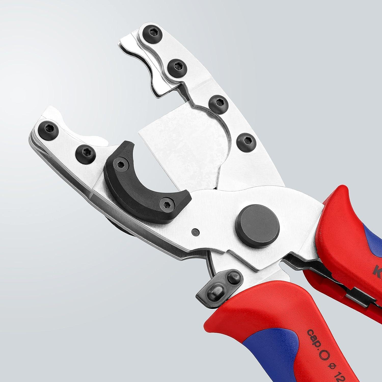 Knipex 90 25 20 Coupe-tube pour tubes composites et gaines de protection flexibles