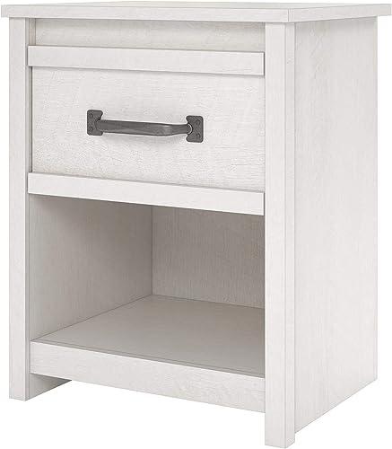 Bassinger DZ16537 Nightstand Shelves, Ivory Oak