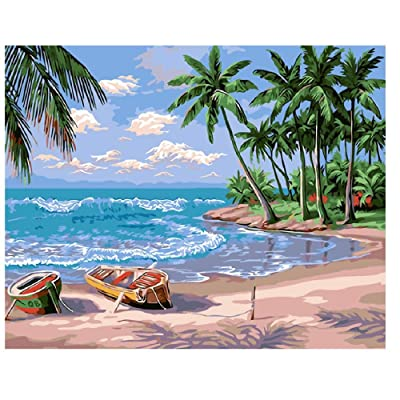 Classic Jigsaw Puzzle 1000 Pieces Wooden Puzzle Hawaii Midsummer Vacation Scenery DIY Modern Wall Art Unique Gift Home Decor Creative Crafts 75X50Cm: Toys & Games