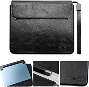 Official Protective Leather Case Bag for One Netbook OneGx1 Laptop Windows 10 Video Game Console Portable Gameplayer Cover case (Black)