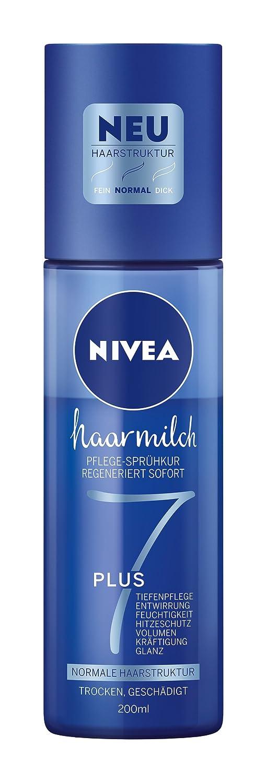 NIVEA 3er Pack Haar-Pflege-Sprühkur für normale Haarstruktur, 3 x 200 ml Sprühflasche, Haarmilch 3 x 200 ml Sprühflasche 88603