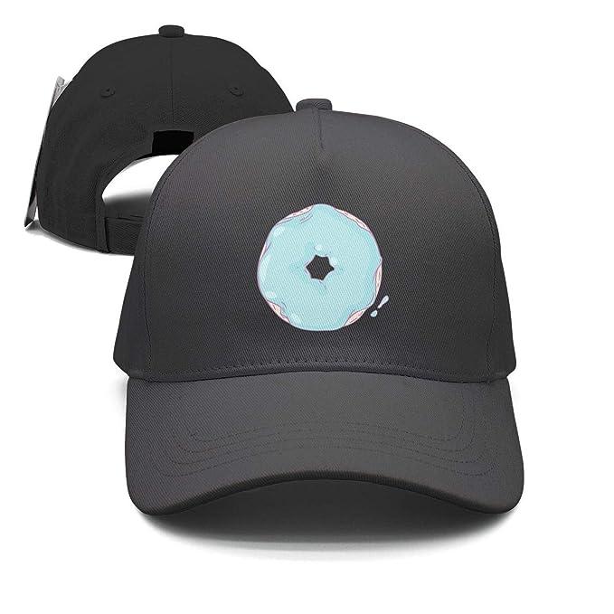 0175954bddc Marinas Donut Hat Blue Bread Donut Trucker Hat Adjustable Sunscreen caps