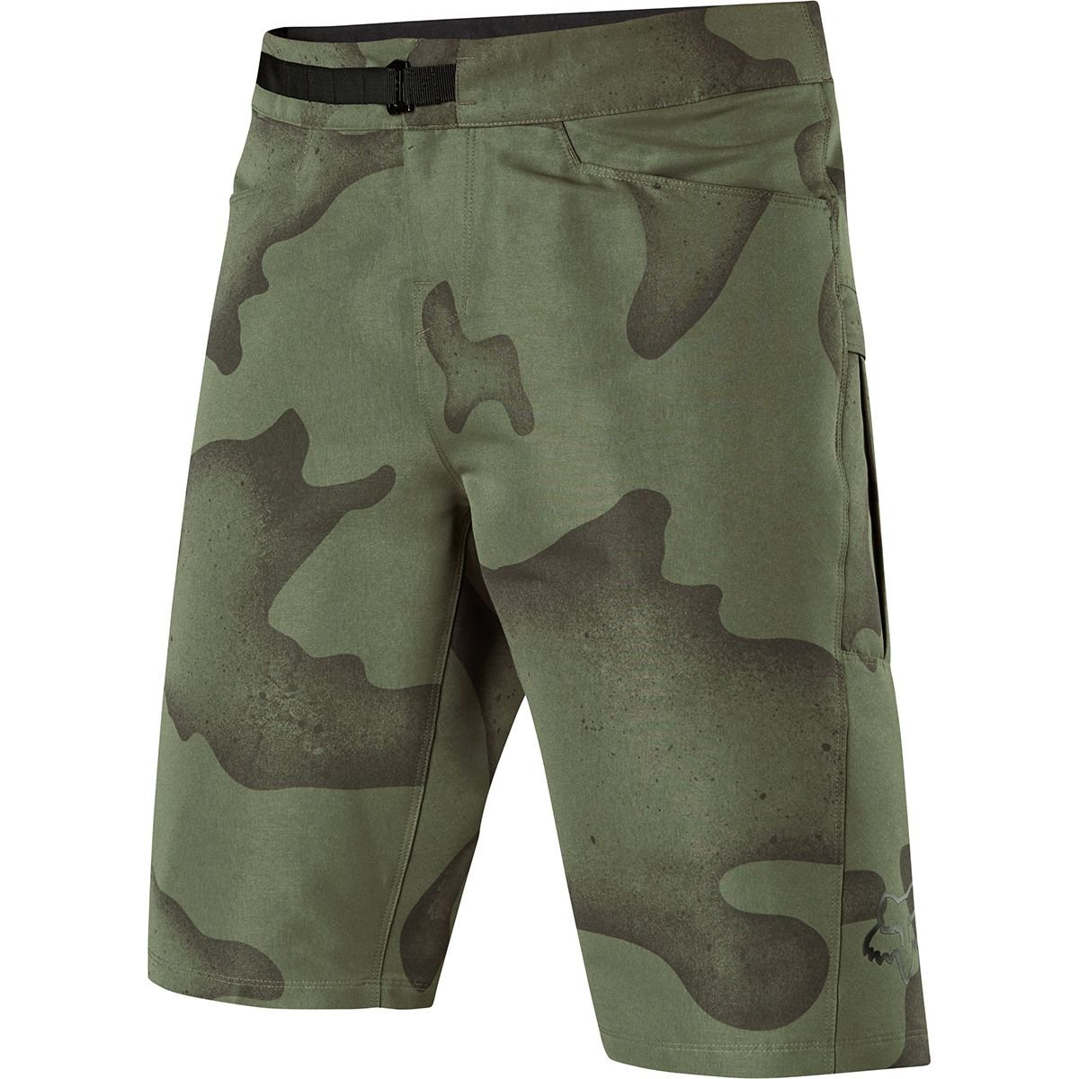 Fox Racing Ranger Cargo Print Short - Men's Green Camo, 36 by Fox Racing