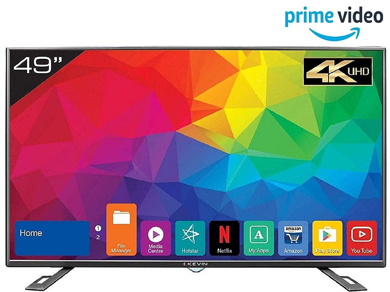 Kevin 124 5 cm (49 Inches) 4K UHD LED Smart TV KN49UHD (Black)