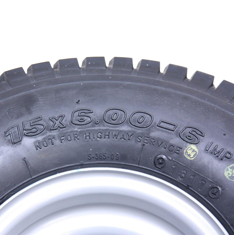 4-15x6.00-6 neumático de Hierba en el Carrito del Borde de la Rueda Buggy- Trailer- heno Bob Turner rastrillo: Amazon.es: Jardín