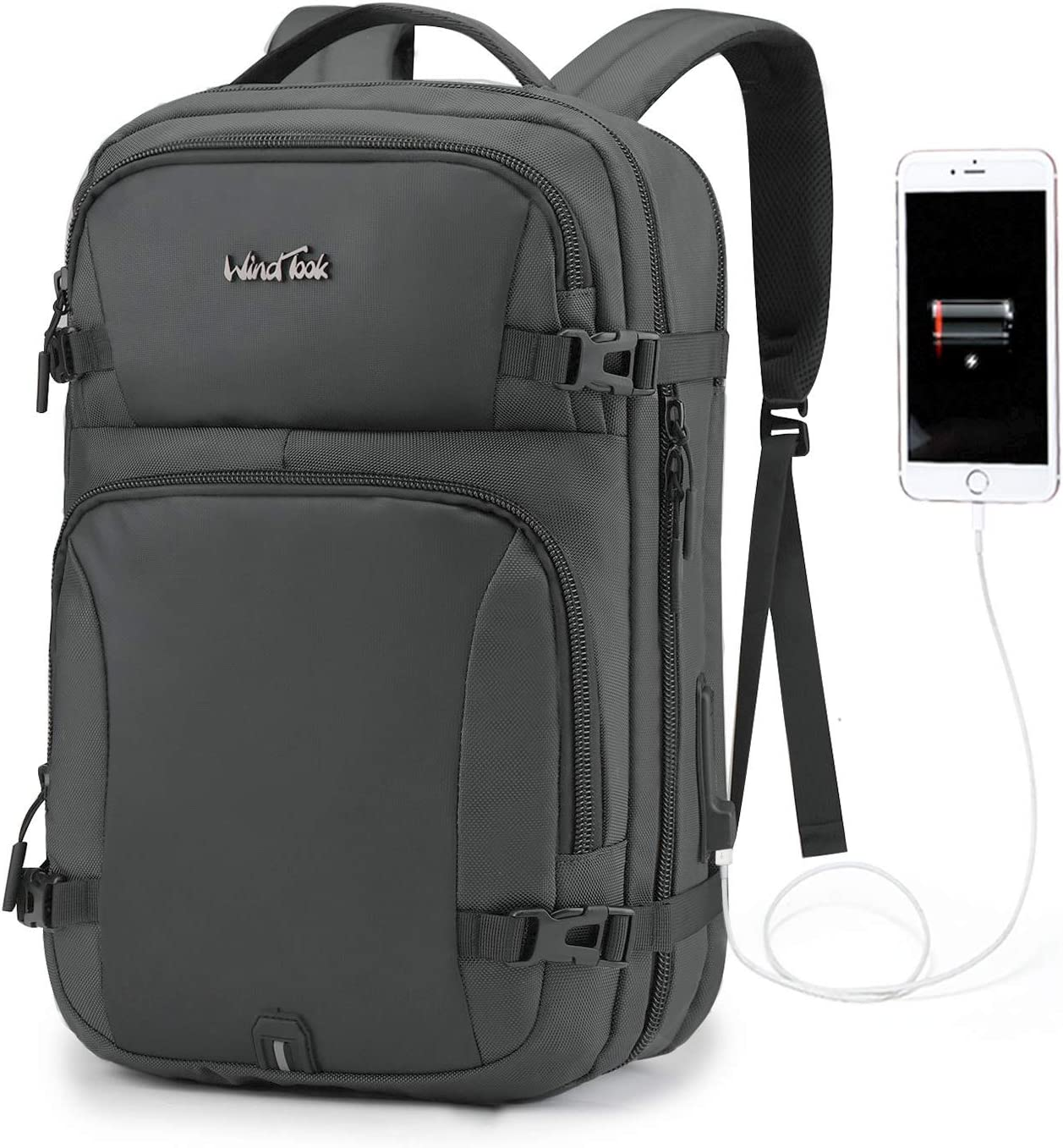 WindTook 15.6inch Travel Business Laptop Backpack with USB Charging Port for Women Men,School College Backpack