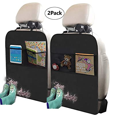 Freddie and Sebbie Kick Mats- Luxury Car Seat Back Protectors 2 Pack, Perfect Backseat Organizer and Seat Covers For Car, SUV, Auto and Child Safety Seat Accessories: Automotive