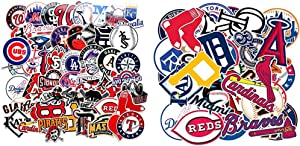 83Pack MLB Major League Baseball Prismatic Stickers Hydroflasks Laptop Water Bottles Computer Phone Skateboard All 30 Baseball Team Logo Waterproof Vinyl Sticker Decals for Teens Boys Girls Adults