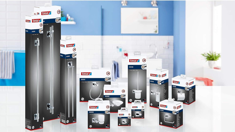 verchromt, inkl. Klebel/ösung, hohe Haltekraft , 390mm x 115mm x 165mm Tesa hukk Toilettenb/ürstenhalter bis 6kg