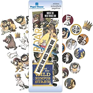 Paper House Productions SET0017 Where The Wild Things Are Sticker Bundle includes 2 Puffy Stickers Diecut Stickers