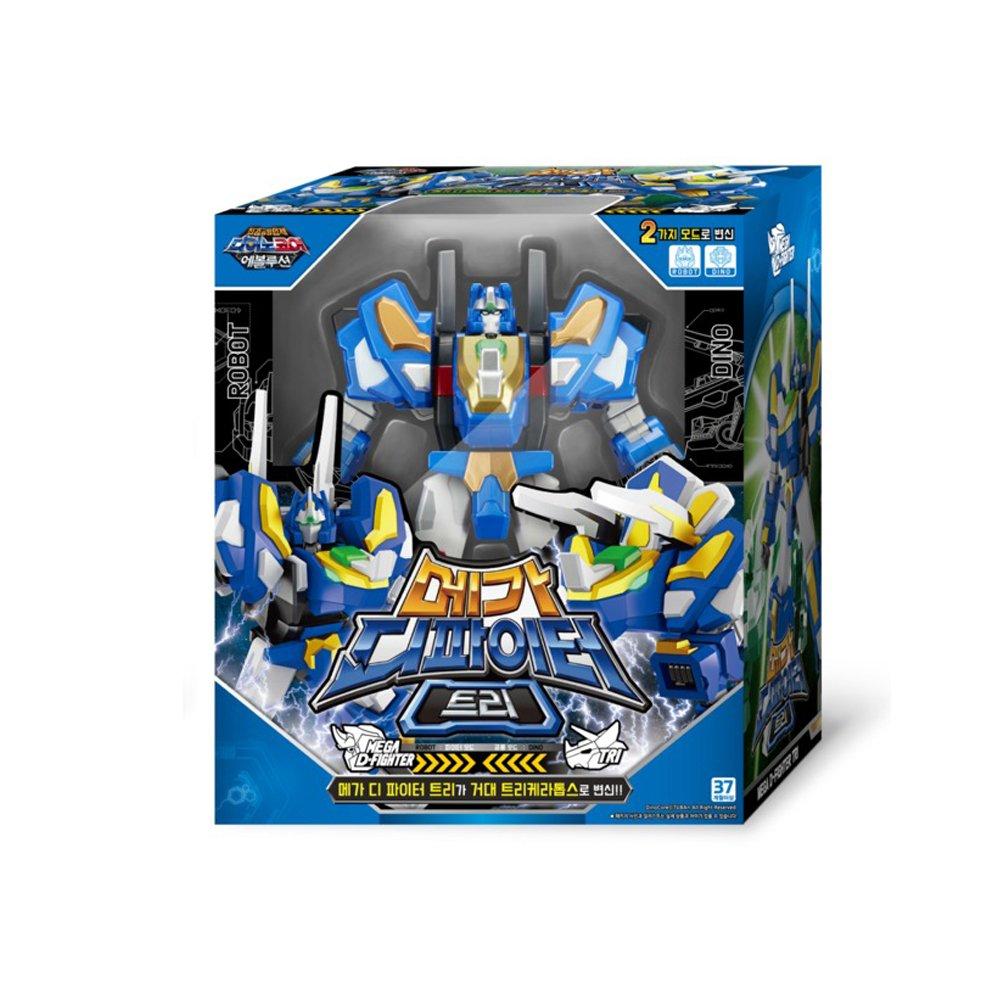 TUBAn Dino Core Evolution Mega D-Fighter Tyranno&Tri, koreanische Animation verwandelt Roboter SpielzeugLieferung - (innerhalb von 7 Tagen) (Tri)
