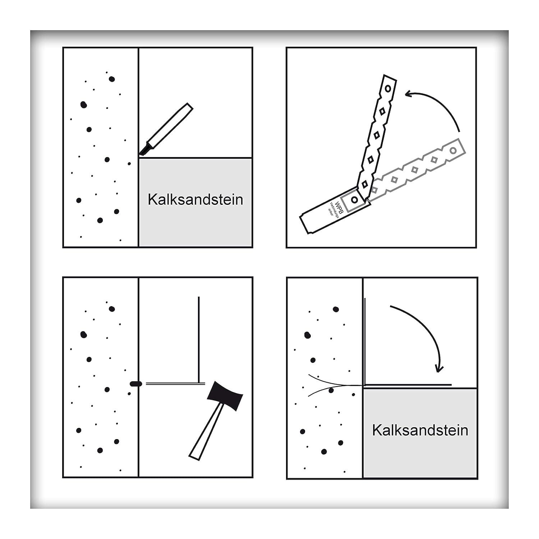 WAKAI Einschlagmauerverbinder Maueranker Edelstahl Flachanker 247 mm 10 St/ück