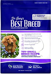 Dr. Gary's Best Breed Small Breed Recipe Made in USA [Natural Dry Dog Food for All Breeds and Sizes]