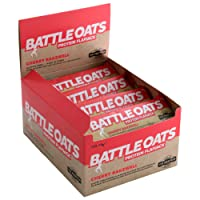 Battle Oats High Protein Gluten Free Flapjacks, 12 x 70g Protein Bar - Cherry Bakewell