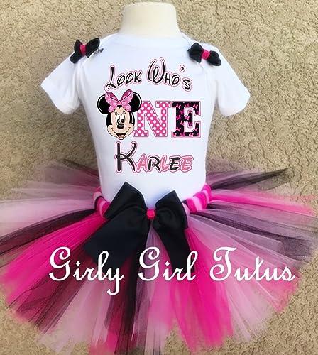 Amazon Minnie Mouse 1st Birthday Custom Outfit Tutu Set Handmade