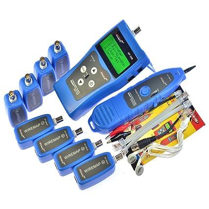 Multiusos LAN Cable Tester, Pruebas de red, coaxial, Teléfono, Cable USB con