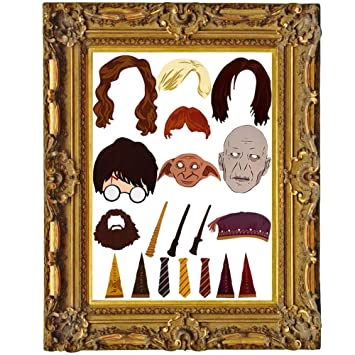 Witchs Magic House Photobooth Props 20 Pcs Harry Potter Partei