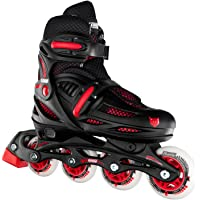Crazy Skates Adjustable Inline Skates for Boys - Adjusts to fit 4 Shoe Sizes - Available in Two Colors (Model 148)