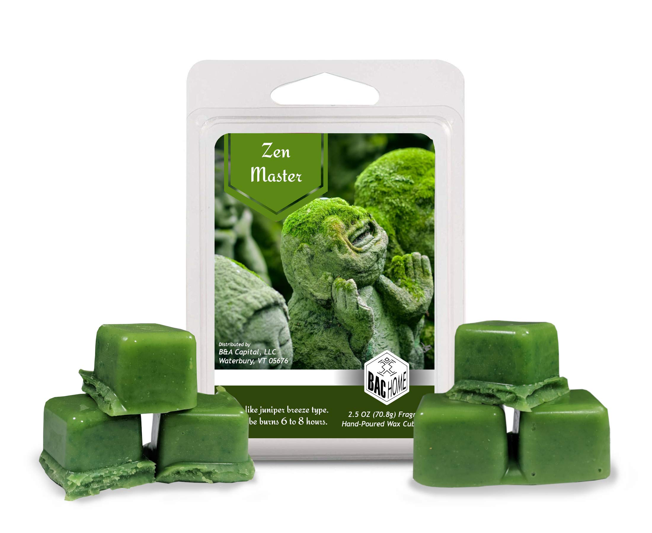 4 Pack - Ultimate Zen Collection Soy Blend Scented Wax Melts Wax Cubes, 10.0 oz, [24 Cubes] with Zen Master, Inner Peace, Breathe and Zen by BAC Home (Image #2)