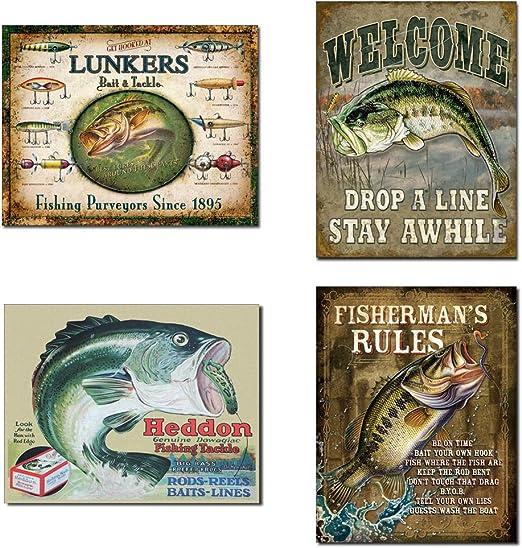 Fish Lure Rinehart Jinx Fishing Sign Bait Tackle Tin Sign B684