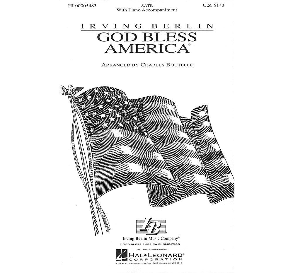 Hal Leonard God Bless America (SATB) SATB arranged by Charles Boutelle