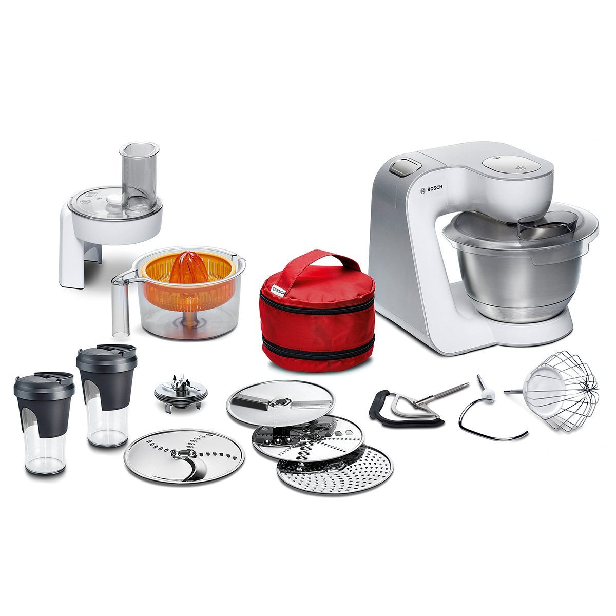 Amazon.de: Bosch MUM58W56DE CreationLine Küchenmaschine (1000 Watt ...