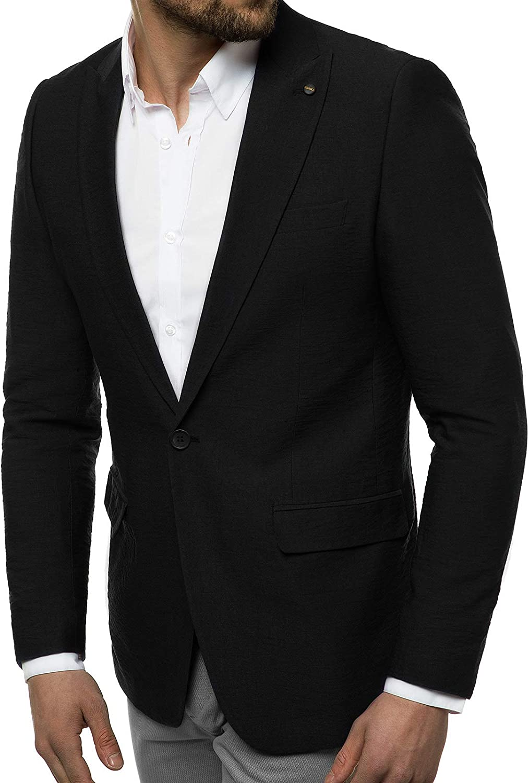 OZONEE Herren Sakko Jackett Anzugjacke Blazer Anzug Jacke Smoking Slim Fit Business Sportlich Sport Langarm Casual Klassisch Classic Modern O//7309