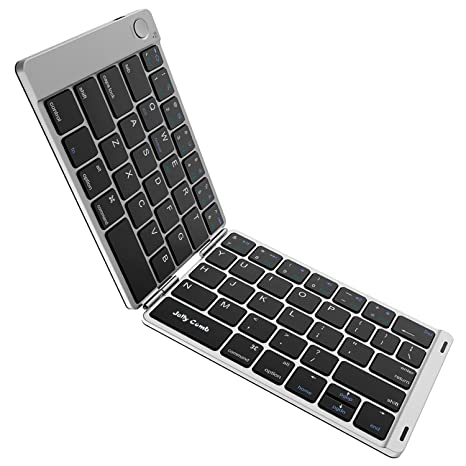 b83c4f32b8d Foldable Keyboard, Jelly Comb B047 Portable Folding BT Keyboard  Rechargeable Pocket Sized Keyboard for iOS