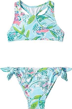 174be851fd Amazon.com: Lilly Pulitzer Kids Baby Girl's UPF 50+ Maisie Bikini  (Toddler/Little Kids/Big Kids): Clothing