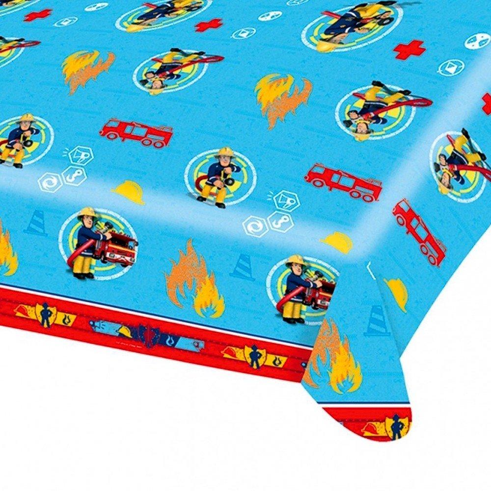 Bombero Sam - Fiesta Cumpleaños Mantel limpiable: Amazon.es ...