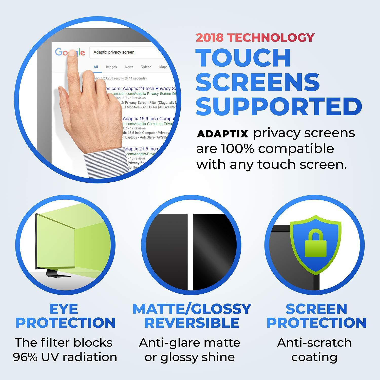 Adaptix 21.5 Inch Privacy Screen Filter (Diagonally Measured) 16:9 Aspect Ratio for Widescreen Computer LCD & LED Monitors - Anti Glare (APS21.5W) by Adaptix (Image #4)