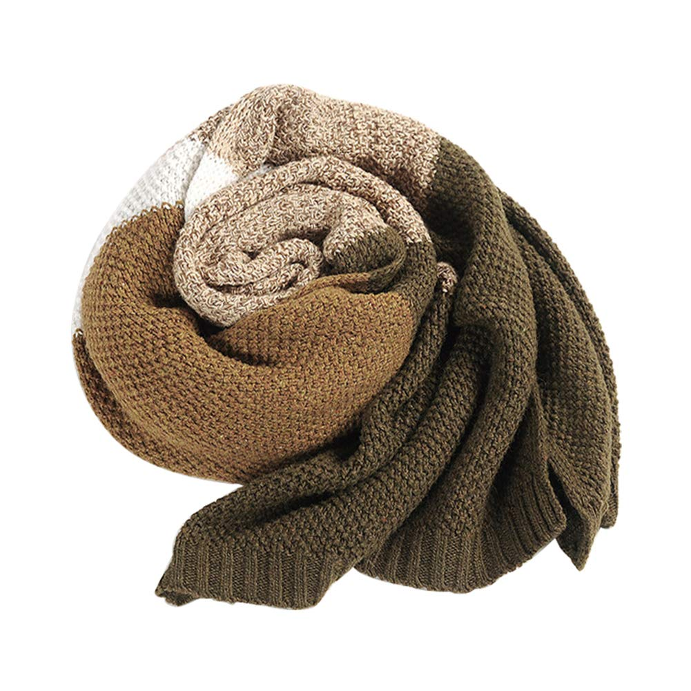 190 1 34cm Wimagic 1 x Mens Winter Scarf with Extra Long Stitching Classic Fashion Neck Warmer Wool Knitted Scarf Unisex Simple and Generous Everyday Outdoor